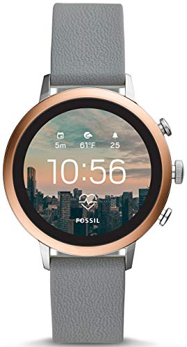 Fossil Damen Digital Smart Watch Armbanduhr mit Silikon Armband FTW6016 - Touch-screen-wecker