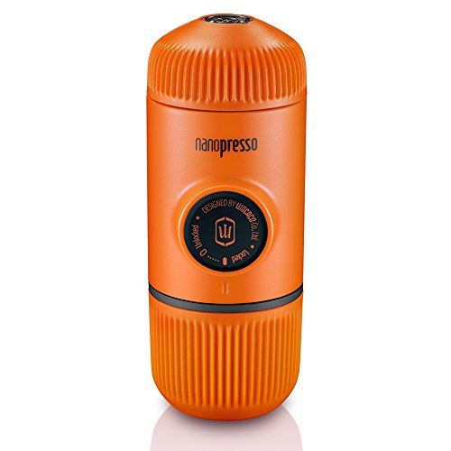 Wacaco Nanopresso Portable Espressomaschine, Upgrade-Version von Minipresso, 18 Bar Druck, Orange...