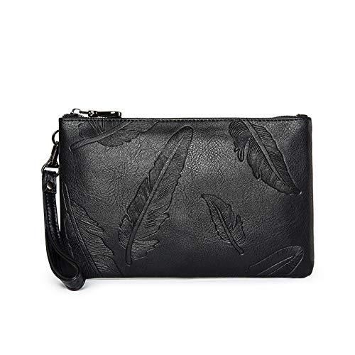 Lling Neue Männer Tasche Clutch Bag große Kapazität Geschäft Persönlichkeit lässig Jugendgeschäft Umschlag Tasche, schwarz