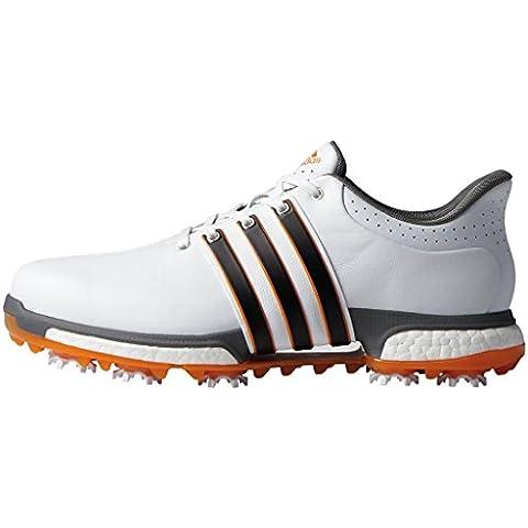 adidas Tour360 Aumento, Uomo Scarpe Da Golf - Bianco/Nero/Arancione, Uomo,