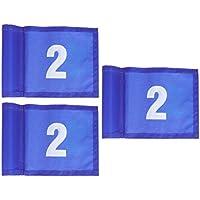 LIOOBO Practicar Banderas de Golf Verdes Bandera de Marcado de Golf Entrenamiento portátil de Golf Banderas de Objetivo de Golf (Azul 12 x 18 cm Estilo número 2) 2 Piezas
