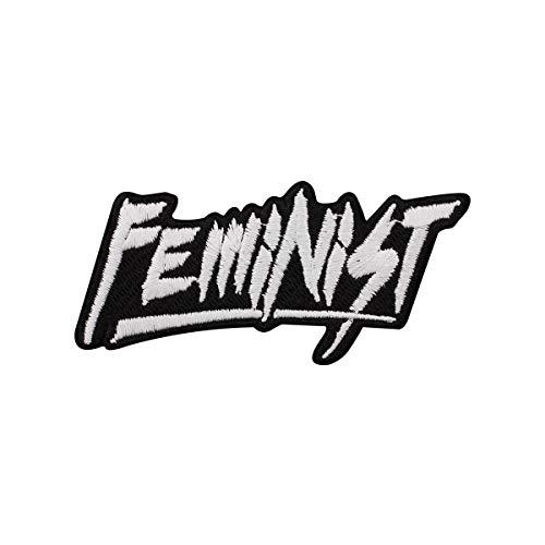 Grindstore - Parche feminista text Feminist (Tamaño Único) (Negro/Blanco)