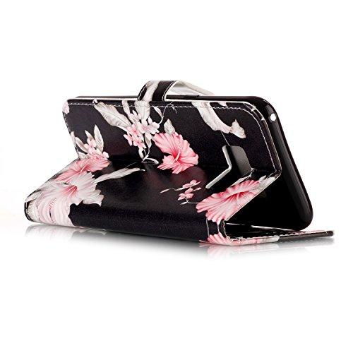 Für Samsung Galaxy S8 Plus Horizontale Flip Case Cover Luxus Blume / Marmor Textur Premium PU Leder Brieftasche Fall mit Magnetverschluss & Halter & Card Cash Slots ( Color : F ) C
