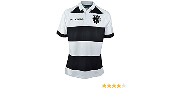 75253dd67f3 Kooga Barbarians 2017/18 Home S/S Replica Rugby Shirt - Black/White - Size  L: Amazon.co.uk: Clothing