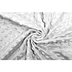 AllTissus Tela Polar Minky Lunares Blancos - por Metro