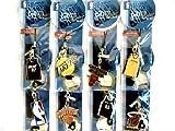 FMtech Kit 144 Pezzi pendagli Ornamentali NBA Licensing compreso espositore da banco bifacciale in plastica Rotante