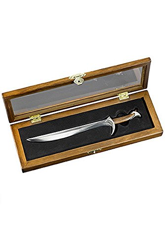 Kinder Kostüm Sauron (Der Hobbit - Smaugs Einöde - Schwert Miniatur Brieföffner - Thorin Eichenschilds Orcrist Schwert - 23cm - Schmuckbox)