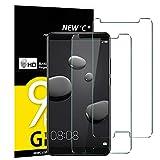 NEW'C Verre Trempé pour Huawei Mate 10, [Pack de 2] Film Protection écran - Anti Rayures - sans Bulles d'air -Ultra Résistant (0,33mm HD Ultra Transparent) Dureté 9H Glass