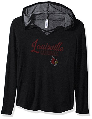 NCAA Louisville Cardinals Damen KENZIE Premium Frottee Hoodie Shirt, Medium, Schwarz