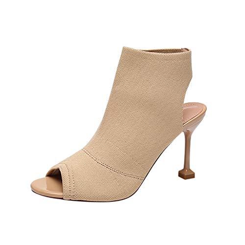 Suitray Damen High Heels Mode Peep Toe Pumps Cool Sandalen Pumps Hochhackige Schuhe Freizeitschuhe Mädchen Strassenmode Schuhe Mary Jane Halbschuhe Abend High Heels Keile Offene Schuhe (Unter Dollar Heels 10)