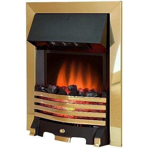 Royal Cozy Fire RCF1 - Chimenea eléctrica (latón), color dorado