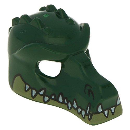 Preisvergleich Produktbild 5 x LEGO® Figuren,  Kopfbedeckung Maske Krokodil mit Zähnen