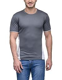 Scott Men's Jersey Round Neck Sports Dryfit T-Shirt - Grey