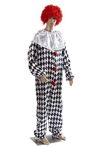 erren-Kostüm - Clown, 54-56 (Jungen Killer Clown Kostüme)