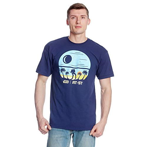 Star Wars Death Star T-Shirt zu Rogue One von Elbenwald Baumwolle blau Blau