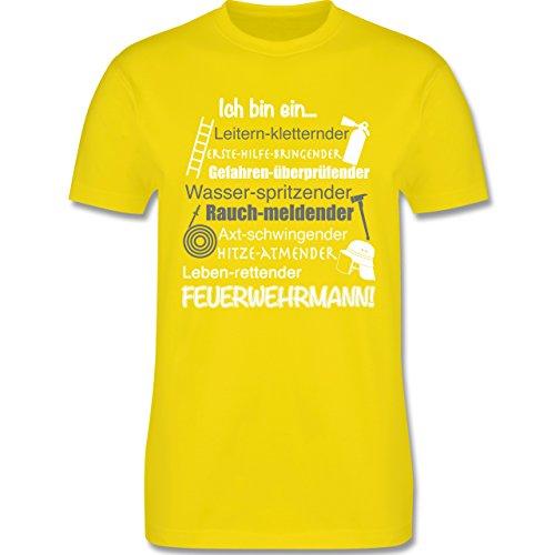 Feuerwehr - Ich bin ein ... Feuerwehrmann! - Herren Premium T-Shirt Lemon Gelb
