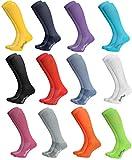 Rainbow Socks - Damen Herren Sportliche Kniestrümpfe - 12 Paar Multipack - Mehrfarbig - Größen: EU 39-41