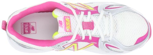 New Balance ,  Scarpe da corsa ragazza (White with Pink Shock & Hi-Vis Yellow)