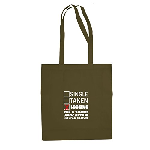 Looking for a Zombie Apocalypse Surival Partner - Stofftasche/Beutel, Farbe: oliv