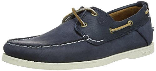 Timberland Heritage CW Boat_Heritage CW Boat 2 Eye, Herren Bootsschuhe, Blau (Navy with Finish Plan), 40 EU (Deck Timberland Shoes)