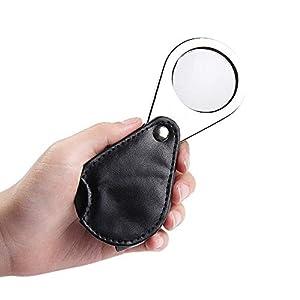 GRHGJ Faltbare tragbare Lupe HD-Objektiv Handheld 6-Fach vergrößerte alte Bio-Beobachtung zur Antike Identifikation