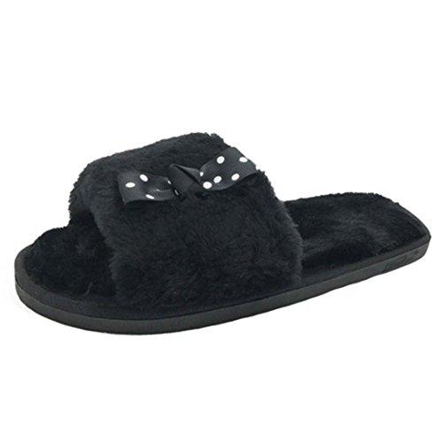 Faux Inverno Nero Casa 868 Pantofole Caldo Pelliccia Donne Dragon Indoor wqT1HxP