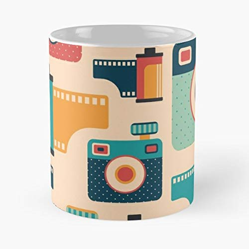 Camera Film Roll Multimedia Media Retro Vintage Graphic Pattern Abstract Ornament Form - Bestes 11 Unze-Keramik-Kaffeetasse Geschenk