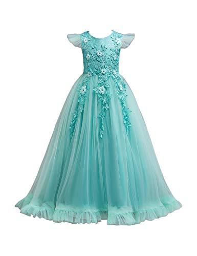 besbomig Weihnachten Hochzeit Abend Kleid Große Mädchen - Blütenblatt Bodenlänge Festzug Geburtstag Prinzessinenkleid Outfits