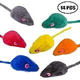 Yangbaga falso topo sonaglio arcobaleno, 14pezzi, giochi per gatti topi per gatti e gattini
