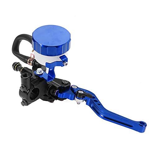 Hinterradbremse Set 7/8 zoll CNC Motorrad Hydraulische Bremskupplung Geberzylinder Hebel Reservoir (Farbe : Blue)