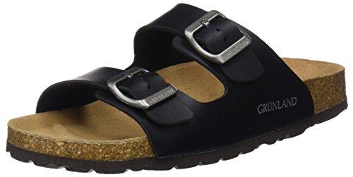 Grunland sara, scarpe da spiaggia e piscina donna, nero (nero), 38 eu
