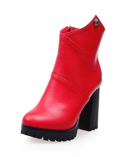 ShangYi Mode Frauen Schuhe Damenschuhe Ferse/Mode Schuhe/Stiefel bekämpfen Outdoor/Kleid/Casual Schwarz/Rot/Weiß Schwarz