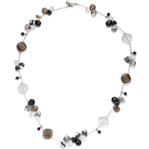 Leonardo Jewels Damenkette schw./wei Colours 80cm 011936