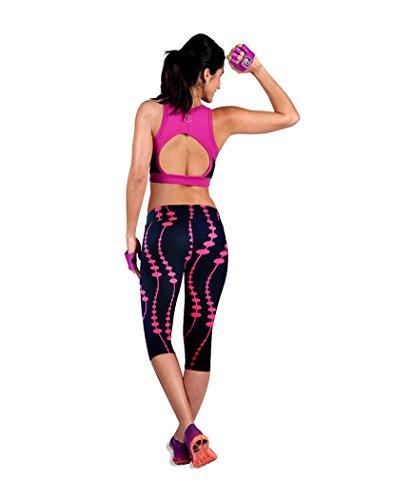 Femme Leggings de Sport, Tonsee Pantalon de Sport taille haute Fitness Yoga imprimé Stretch recadrée Leggings Rose vif