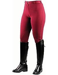 Sajón para el calentamiento algodón traje de neopreno para mujer pantalones de montar, color rojo - rojo, tamaño 32 pulgadas