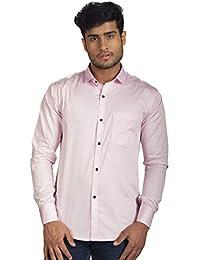 b6cd374f4ff R.J. Fusion   Threads Lemonade Pink Cotton and Satin Blend Full Sleeves  Formal Shirt