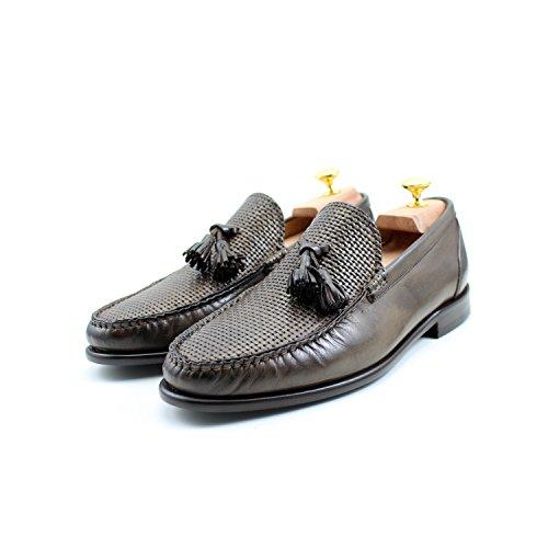 Marron Oxford Classic Rea Main Mocassins Élégant Homme Shoes yNwP0nv8Om