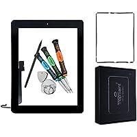 Trop Saint® Digitalizador de Pantalla Táctil para iPad 4 Negro Repuesto Reparación + Adhesivo + Herramientas (A1458, A1459, A1460)