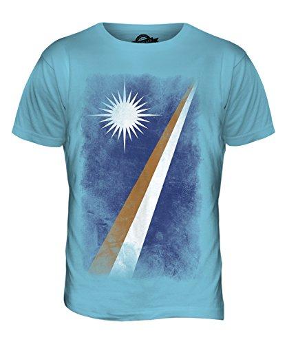 CandyMix Marshallinseln Verblichen Flagge Herren T Shirt Himmelblau