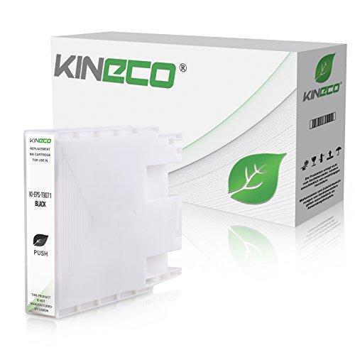 Preisvergleich Produktbild Kineco Patrone für Epson WorkForce WF-6090 WF-6590 C13T907140 Schwarz 202ml