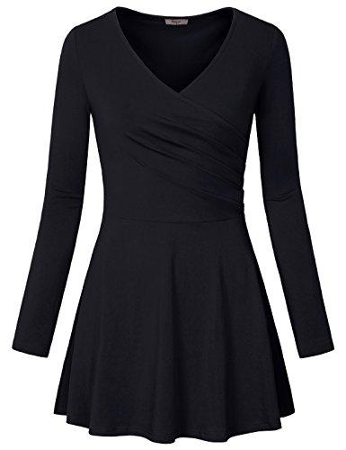 Timeson Damen Kleid Gr. L, schwarz (Satin Sweetheart Kleider Strapless)