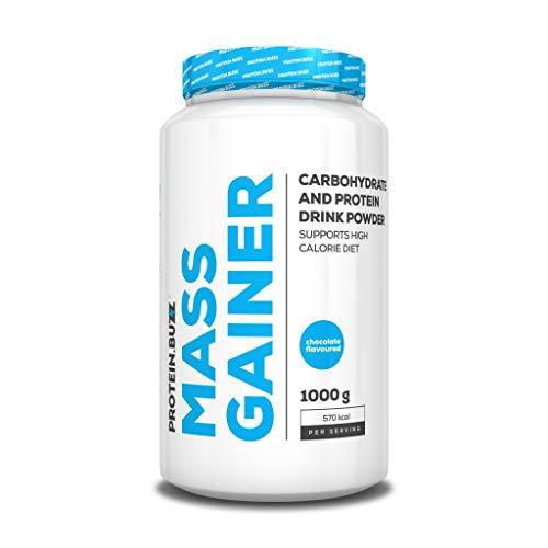 Protein Buzz Mass Gainer, 1KG Dose, Schoko