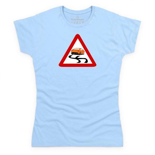 PistonHeads GT86 T-Shirt, Damen Himmelblau