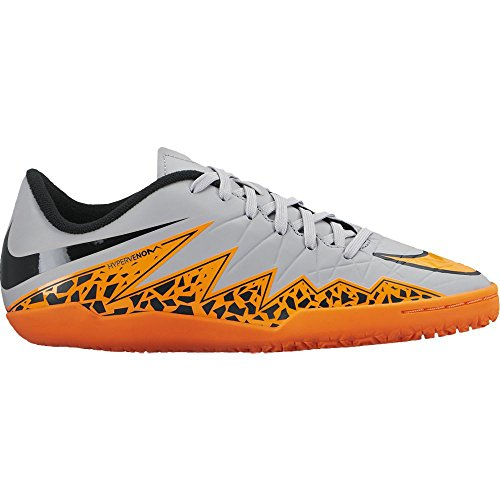 Nike Jr. Hypervenom Phelon Ii Ic Indoor Chaussures de football (loup gris, Total Orange) Sz. 4.5y Gris - gris