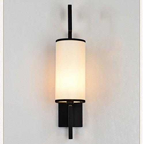 Chambre à coucher moderne Couloir de chevet Salon Personnalité créative Simple Balcon Escalier Applique ( couleur : Noir )