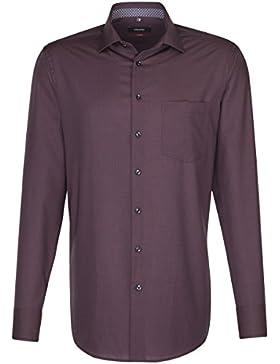 SEIDENSTICKER Herren Hemd Modern Langarm Bügelfrei Uni / Uniähnlich Businesshemd Kent-Kragen Kombimanschette weitenverstellbar