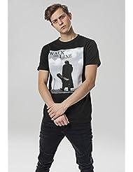 MERCHCODE Jungen Johnny Cash Walk the Line Tee 1012_t-Shirt Kurzarm
