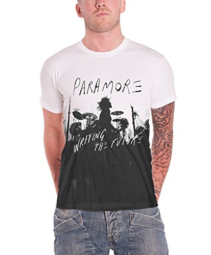 Paramore writing the Future Silhouette offiziell Herren Nue Weiß T Shirt Weiß