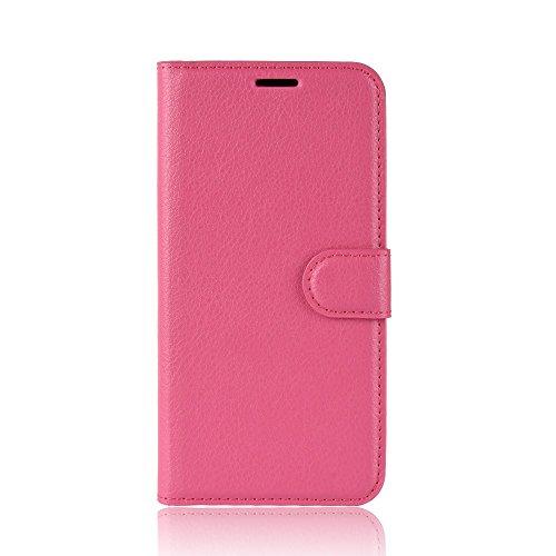 jbTec® Flip Case Handy-Hülle Book #M30 zu BQ Aquaris V Plus/VS Plus/X2 / X2 Pro - Handytasche Schutz Cover Bookstyle Booklet, Farbe:Pink, Modell:BQ Aquaris X2 / X2 Pro