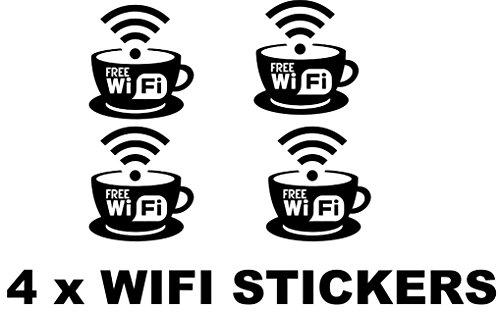 4x WIFI Aufkleber Sets Pub Bar Cafe Bistro Shop